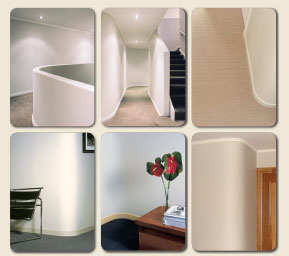Roundy curved walls in residential interiors